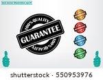 Sign guarantee vector illustration eps10. Sticker 100 percent quality.