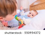 six year old toddler sharing...   Shutterstock . vector #550954372