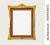 vintage gold photo frame  | Shutterstock .eps vector #550955872