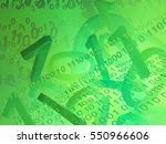 virtual digits abstract 3d... | Shutterstock . vector #550966606