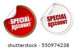 special discount stickers | Shutterstock .eps vector #550974238