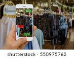 application of augmented... | Shutterstock . vector #550975762