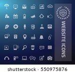 website icon set vector | Shutterstock .eps vector #550975876