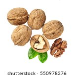 Walnuts With  Green Leaf...