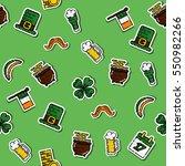 st.patricks day pattern | Shutterstock .eps vector #550982266