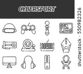 cybersport icons set | Shutterstock .eps vector #550982326