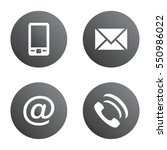 vector icon set  gray spherical ... | Shutterstock .eps vector #550986022