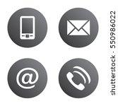 vector icon set  gray spherical ... | Shutterstock .eps vector #550986022