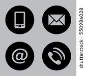 vector icon set  black flat... | Shutterstock .eps vector #550986028