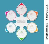 vector infographic template  6... | Shutterstock .eps vector #550998616