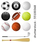 sports icons isolated on white. ... | Shutterstock .eps vector #55100368