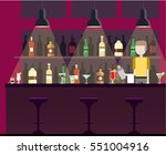 bar  pub  night club interior... | Shutterstock .eps vector #551004916
