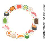sushi frame template with space ... | Shutterstock .eps vector #551010352