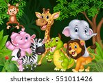 cartoon wild animal in the... | Shutterstock .eps vector #551011426