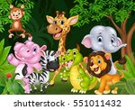 cartoon wild animal in the... | Shutterstock . vector #551011432