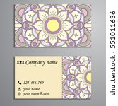 invitation  business card or... | Shutterstock .eps vector #551011636