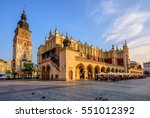 the cloth hall and town hall... | Shutterstock . vector #551012392