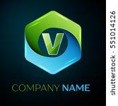 letter v vector logo symbol in...