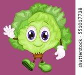 cartoon illustration of a happy ... | Shutterstock .eps vector #551017738