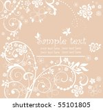 cute greeting frame | Shutterstock .eps vector #55101805