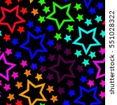 bright colored stars background.... | Shutterstock .eps vector #551028322