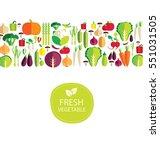 vegetables vector illustration | Shutterstock .eps vector #551031505