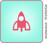 rocket icon | Shutterstock .eps vector #551032426