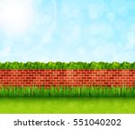 Garden Background With Brick...