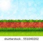 Garden Background With Brick...