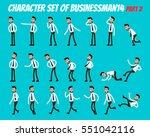 character set of businessman.... | Shutterstock .eps vector #551042116