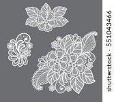 Stock vector lace flowers decoration element 551043466