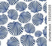 vector seamless pattern with... | Shutterstock .eps vector #551051035