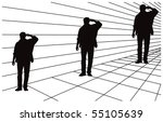 optical illusion about... | Shutterstock .eps vector #55105639