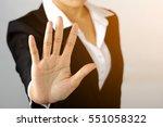 prohibition symbol. serious...   Shutterstock . vector #551058322