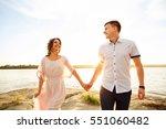 honeymoon  happy honeymooners... | Shutterstock . vector #551060482