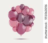 vector illustration of rose... | Shutterstock .eps vector #551063056