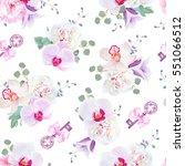 elegant seamless vector print... | Shutterstock .eps vector #551066512
