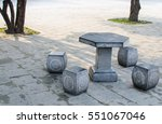 Stone Table And Benches In The...