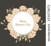 Floral Wreath. Template The...