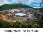 Poas Volcano In Costa Rica Near ...
