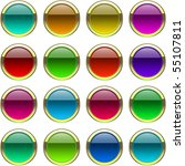 web buttons for web. vector set. | Shutterstock .eps vector #55107811