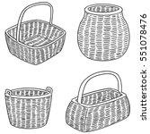 vector set of wicker baskets | Shutterstock .eps vector #551078476
