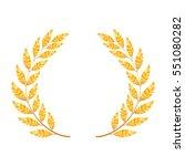 laurel wreath. golden detailed... | Shutterstock .eps vector #551080282