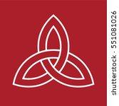 celtic trinity knot symbol | Shutterstock .eps vector #551081026