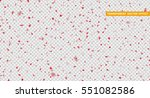 hearts red petals falling.... | Shutterstock .eps vector #551082586