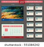 design desk calendar 2017.... | Shutterstock .eps vector #551084242