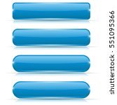 blue glass buttons. rectangle... | Shutterstock .eps vector #551095366