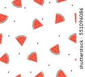 seamless doodle fruit... | Shutterstock .eps vector #551096086