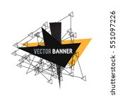 abstract explosion banner.... | Shutterstock .eps vector #551097226