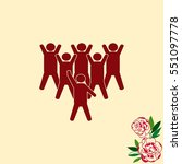group of people icon  friends... | Shutterstock .eps vector #551097778